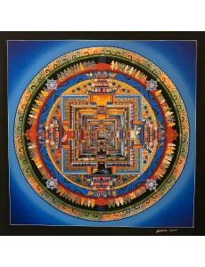 Kalachakra Mandala in Blue