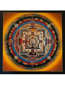Kalachakra Mandala in Orange