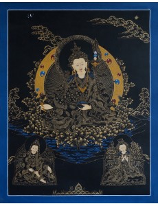 Guru Rinpoche with 2 other deities