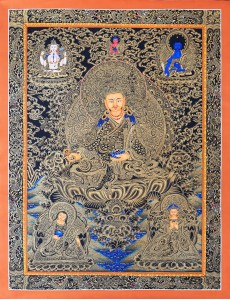 Guru Rinpoche (black and gold)