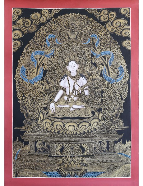 White Tara (Newari black and gold)